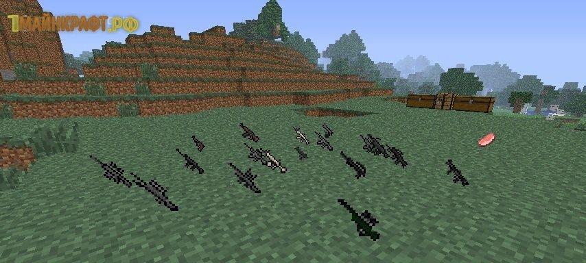 моды майнкрафт 1 8 3 машины оружие