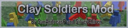 Clay Soldiers mod 164 - глиняные человечки для майнкрафт 1.6.4