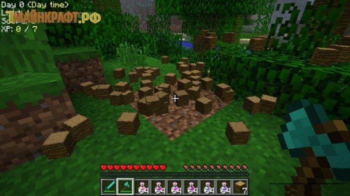 TreeCapitator 1.8 - мод на вырубку деревьев в minecraft 1 8