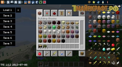 Мод TooManyItems для minecraft 1.8.1