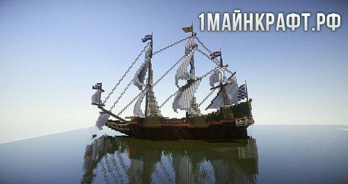 Карта Корабль для майнкрафт