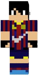 Скин футболиста Messi для майнкрафт