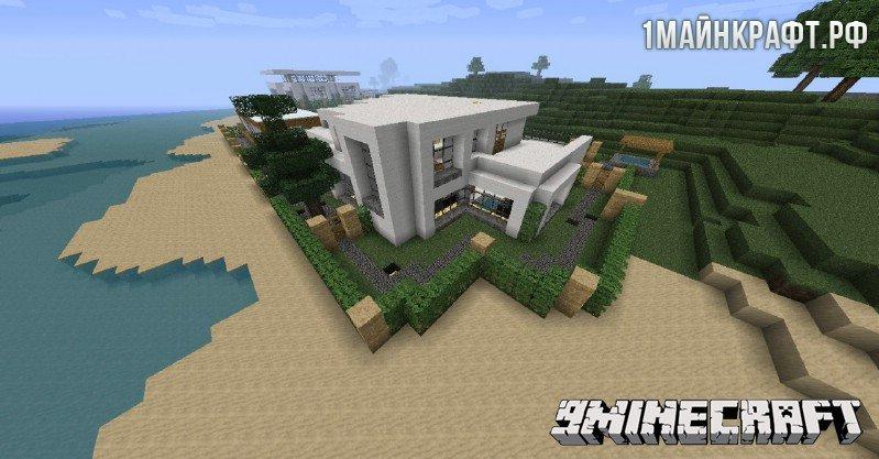 Карта на майнкрафт 1 7 10 modern house
