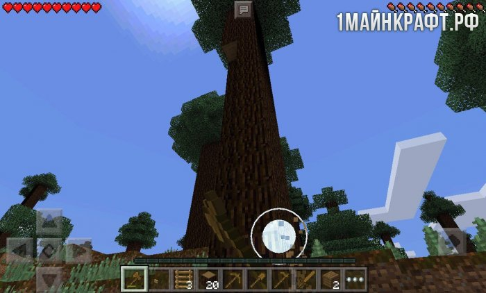 Мод TreeCapitator для майнкрафт пе 0.13.1