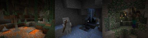 Мод CaveBiomes для майнкрафт 1.7.10 - биомы в пещерах