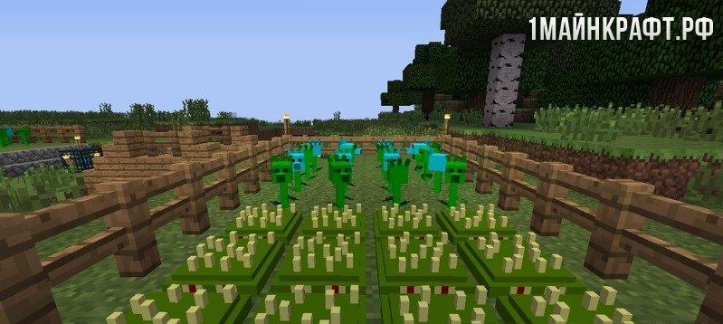 Скачать карту на майнкрафт растения против зомби