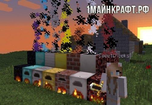 Мод Advanced Chimneys для майнкрафт 1.10.2 - дымоход