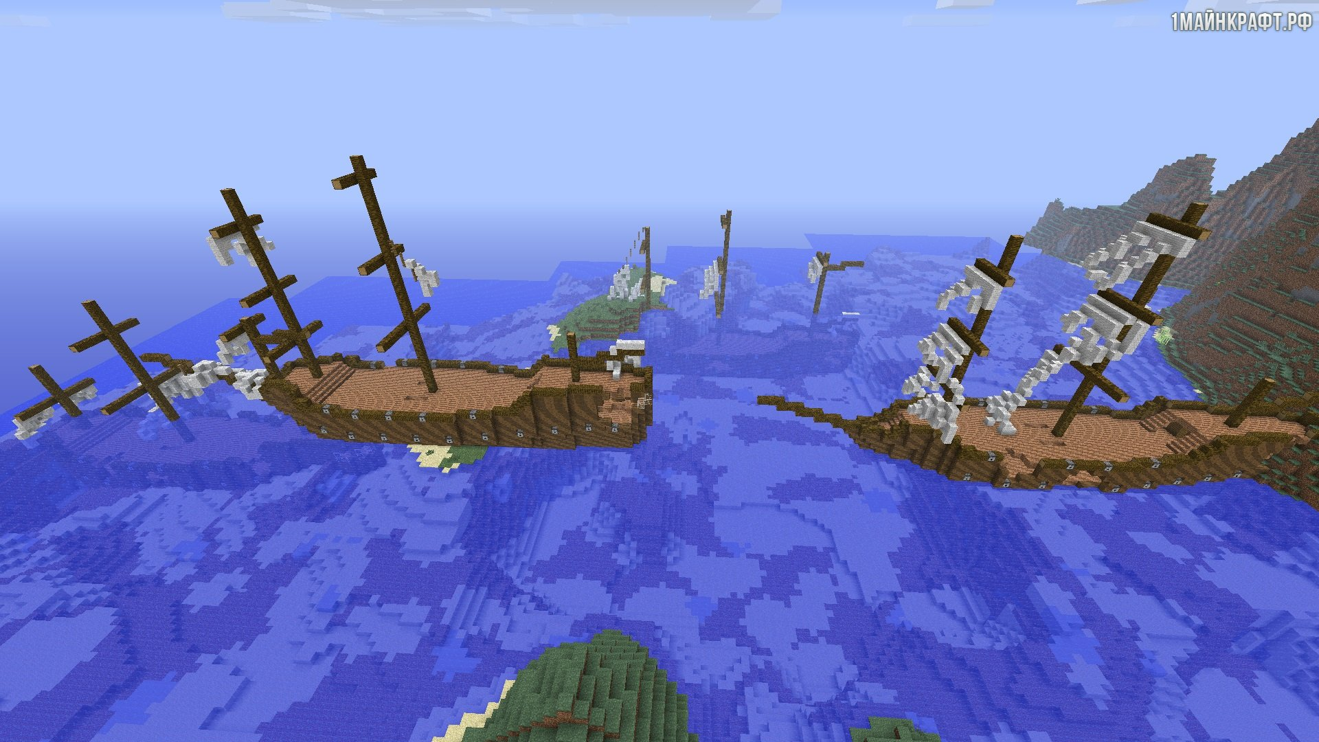 Скачать мод на майнкрафт 1.7.10 на пиратов замки и на большие корабли