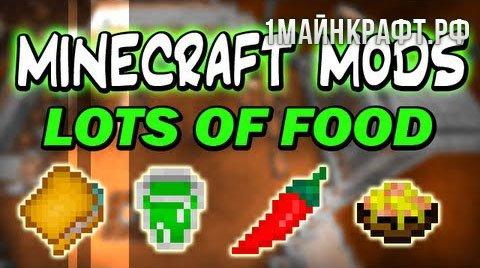 Мод Lots of Food для Майнкрафт 1.10.2
