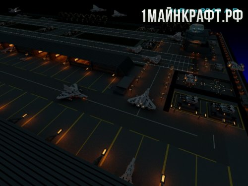 Карта AirBase для Майнкрафт (Аэропорт)