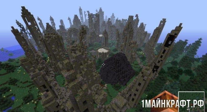 Скачать мод на minecraft карту города