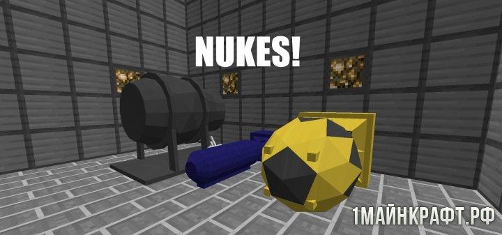 скачать мод на майнкрафт 1.8 ядерная бомба #3