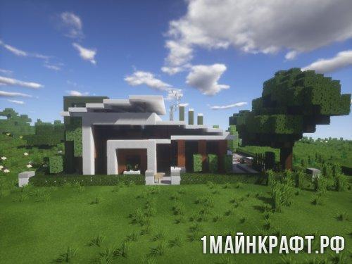 Карта Modern House (Современный дом) для Minecraft [32x]