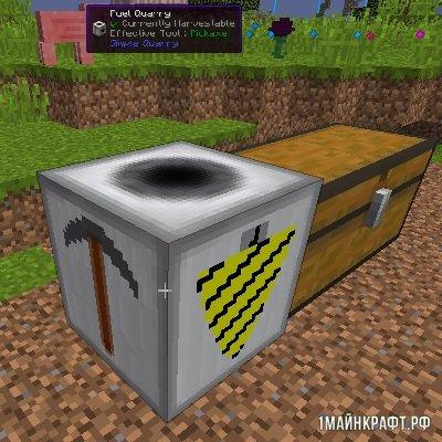 Мод Simple Quarry для Майнкрафт 1.10.2