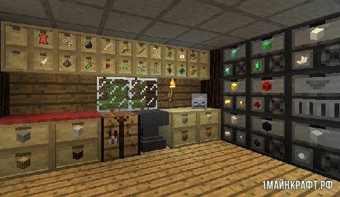 Мод Storage Drawers для Майнкрафт 1.11