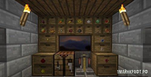 Мод Storage Drawers для Майнкрафт 1.11.2