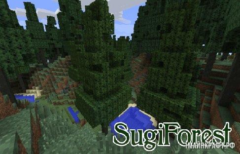 Мод SugiForest для Майнкрафт 1.11.2