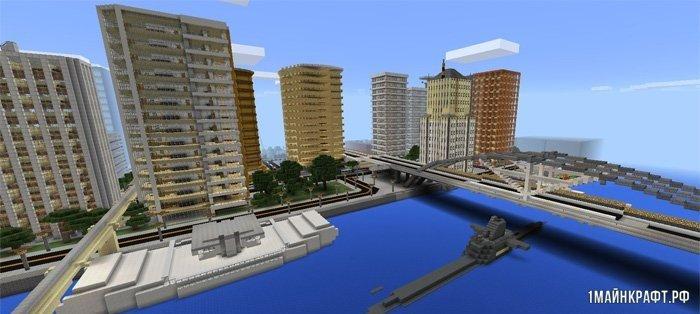 Карта города для Майнкрафт ПЕ 1.0 / 0.17.0