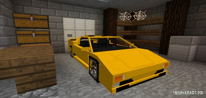моды на майнкрафт 1.7.10 на машину и гараж #1