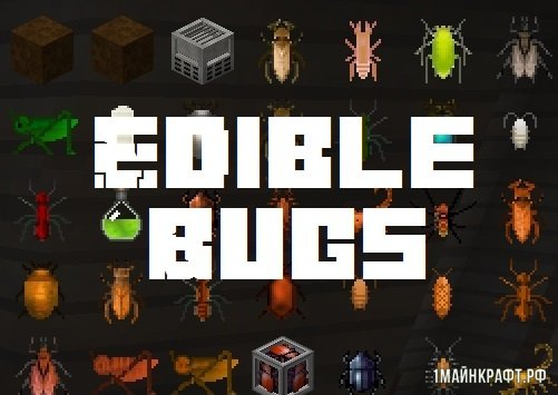 Мод Edible Bugs для Minecraft 1.12